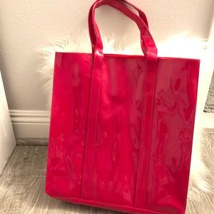 Macy's Fuchsia / dark pink Patent Leather Tote bag
